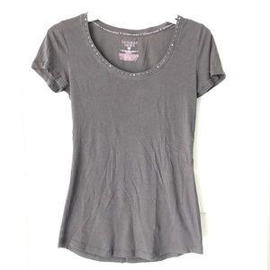 Victorias Secret Sz Small Gray stud detail T-shirt